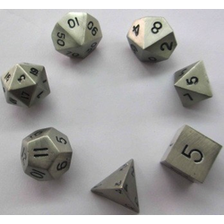 Metallic Dice: Silver Antique (Solid Metall)