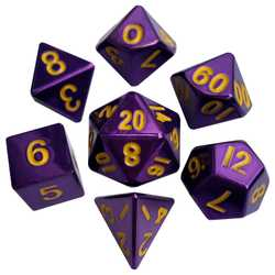 Metallic Dice: Purple (Solid Metall)