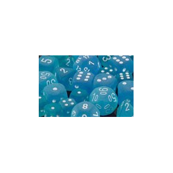 Frosted™ Caribbean Blue™/wh (36-dice set)