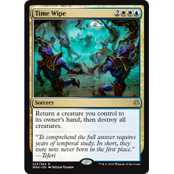 Magic löskort: War of the Spark: Time Wipe