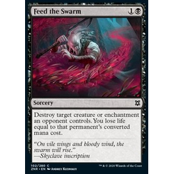 Magic löskort: Zendikar Rising: Feed the Swarm