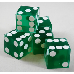 Cancelled Casino Dice Green Sanded, 20mm