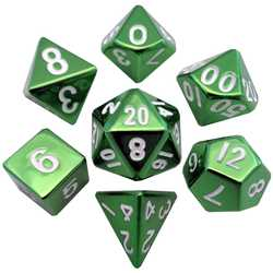 Metallic Dice: Green (Solid Metall)