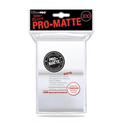 Ultra Pro Deck Protector Sleeves Pro-Matte White (100)