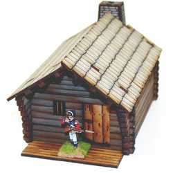 28mm Pioneers Log Timber Cabin 1