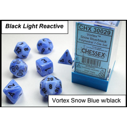 Lab Dice Vortex Snow blue/black 7-Die Set