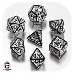 Steampunk Dice Set (Black and White)