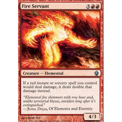 Magic Löskort: Premium Deck - Fire and Lightning: Fire Servant (Foil)