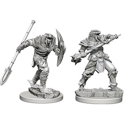 Nolzur's Marvelous Miniatures (unpainted): Dragonborn Male Fighter with Spear