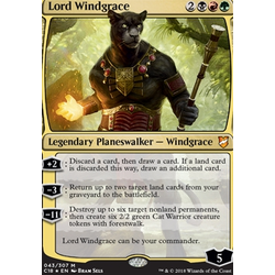 Magic löskort: Commander 2018: Lord Windgrace (Oversize-Foil)