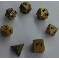 Metallic Dice: Gold Antique (Solid Metall)