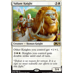 Magic löskort: Core Set 2019: Valiant Knight