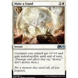 Magic löskort: Core Set 2019: Make a Stand