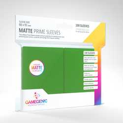 GameGenic Matte Prime Sleeves Green (100)