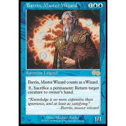Magic löskort: Urza's Saga: Barrin, Master Wizard