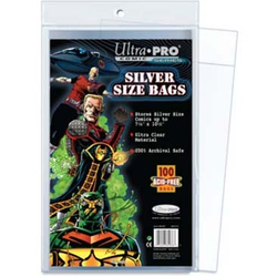"Ultra Pro: Silver Size 7-1/4"" X 10-3/8"" Comic Bags"