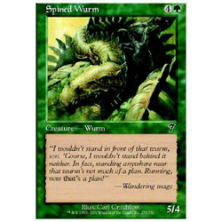 Magic löskort: 7th Edition: Spined Wurm  (Foil)