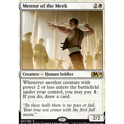 Magic löskort: Core Set 2019: Mentor of the Meek