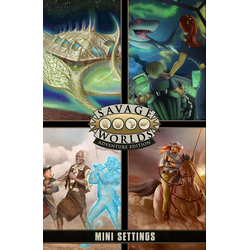 Savage Worlds RPG: Game Master Screen + Mini-Settings