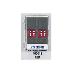 Precision Backgammon Dice (Red, Transparent)