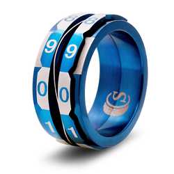 Dice Ring: The Life Counter Ring (Size 14, blue)