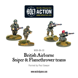 British Airborne Flamethrower and sniper teams