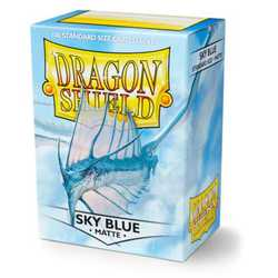 Dragon Shield Sleeves - Standard Matte Sky Blue (100 ct. in box)