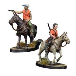 The Walking Dead: All Out War - Maggie and Glenn on Horseback