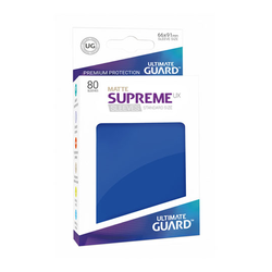 "Card Sleeves Standard ""Supreme UX"" Matte Blue 66x91mm (80) (Ultimate Guard)"