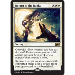 Magic löskort: M15: Return to the Ranks