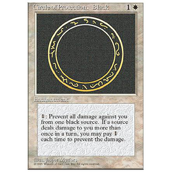 Magic löskort: 4th Edition: Circle of Protection: Black