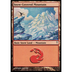 Magic löskort: Coldsnap: Snow-Covered Mountain (foil)