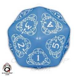 D20 Card Game Level Counter: Blue w/ White