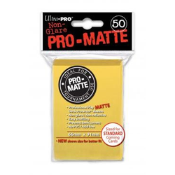 Ultra Pro Deck Protector Sleeves Pro-Matte Yellow (50)