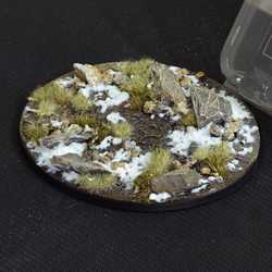 Battle Ready Bases - Winter 120mm Oval (1)
