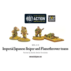 Japanese Sniper & Flamthrower Teams