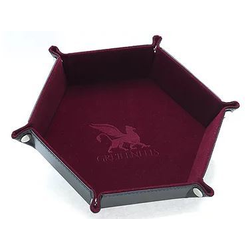 Dice Tray Hexagon Series: Burgundy