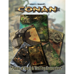 Conan RPG: Fields of Glory & Thrilling Encounters Geomorphic Tile Set