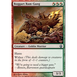 Magic Löskort: Premium Deck - Fire and Lightning: Boggart Ram-Gang (Foil)