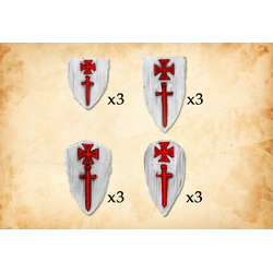 Fireforge: Livonian Order Shields 1