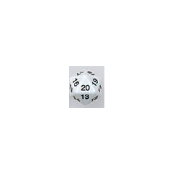 Spindown d20 dice, 30mm - White