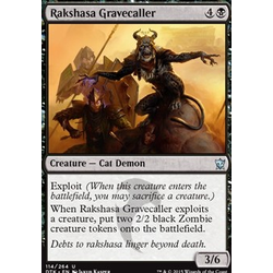 Magic löskort: Dragons of Tarkir: Rakshasa Gravecaller (foil)