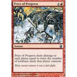 Magic Löskort: Premium Deck - Fire and Lightning: Price of Progress (Foil)