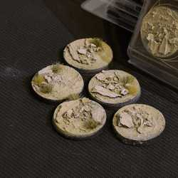 Battle Ready Bases - Arid Steppe 40mm Round (5)