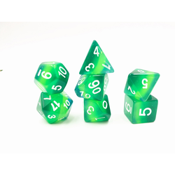 Green translucent layer dice (7-Die set)
