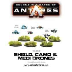 Beyond the Gates of Antares: Shield, Camo & Medi-Drones (6 Fig Blister)