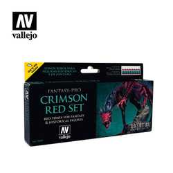 Vallejo Paint Set Crimson Red