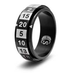 Dice Ring R20 (Size 9, black)