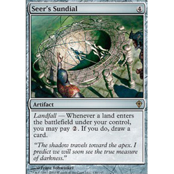 Magic löskort: Worldwake: Seer's Sundial