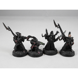 Dark Eldar: Warriors (?) (4 st, Metall, Konverterade Eldar Rangers)
